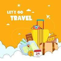 laten we grafisch reizen met reiselementen