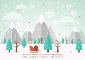 Gratis Vector Winterlandschap Illustration