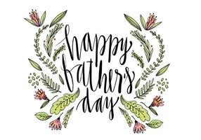 Leuke Hand Father's Day Van letters Vector