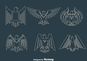 Eagle Seal Line Vectoren