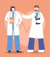 artsen tijdens de uitbraak van het coronavirus