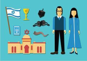 Traditionele Joodse Icon Gratis Vector