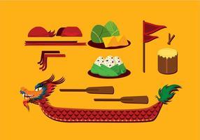 Dragon Boat Festival Item Gratis Vector