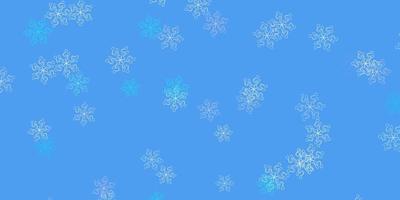 lichtroze en blauwe achtergrond met abstracte bloemen.
