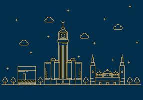 Gratis Makkah Vector Illustratie van de Lijn