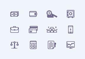 Outline Finance Icon vector