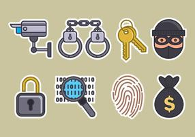 Diefstal Vector Icons Set