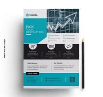 blauwgroen brochure flyer ontwerp afdrukklaar sjabloon