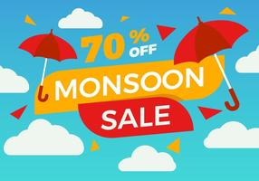Gratis Monsoon Poster Sale Vector