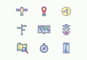 Navigation Icons vector