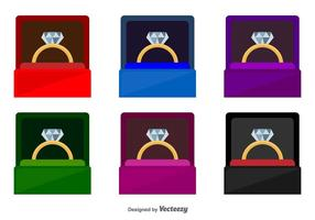Ring Box Vector Icons
