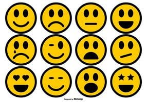 Eenvoudige Smiley Icons Collection vector