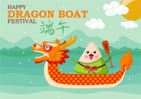 Fun Dragon Boat Festival Vector