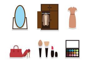 Flat Garderobe Stuff vector