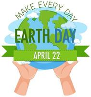 maak elke dag aarde dag banner
