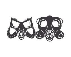 paar bioveiligheid gasmaskers pictogrammen