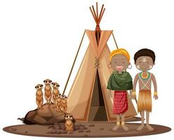 etnische mensen van afrikaanse stammen