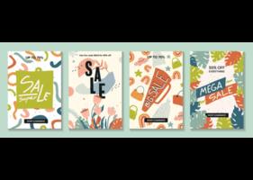 verkoop website banners, e-mailmarketing sjabloonverzameling