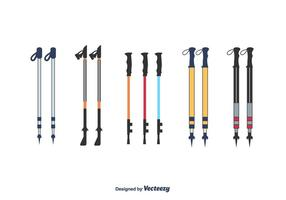 Nordic Walking Poles Vector