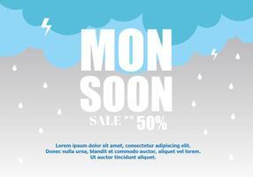 Monsoon Sale achtergrond vector