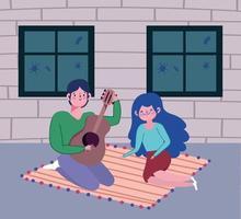 jongeren die thuis muziek spelen