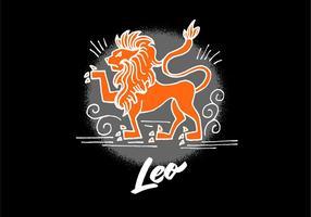 Leo Symbool van de Dierenriem vector