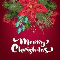vrolijk kerstfeest uitnodiging op rood
