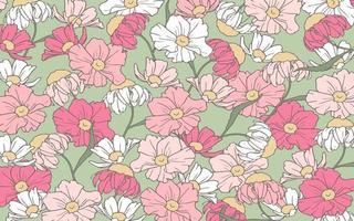 hand getrokken schets bloemen