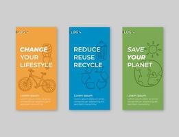 pakket banners voor recycling