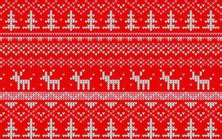 kerst jaquard patroon rood en wit