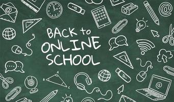terug naar online schoolconcept