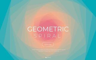kleurrijke geometrische spiraalvormige achtergrond
