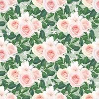 naadloze bloemmotief van blozen rozen