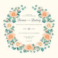 bloos rozen bewaar de datumkrans