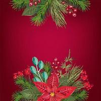 vrolijk kerstfeest uitnodiging wenskaart achtergrond