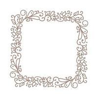 vintage kalligrafische vector bruiloft frame krans met plaats voor tekst