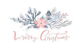 vrolijk kerstfeest groet decoratief kaartontwerp vector