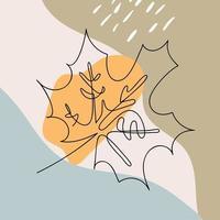 monoline esdoornblad embleem