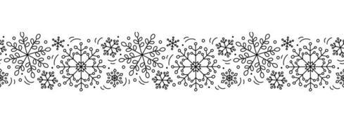 Kerst monoline Scandinavisch naadloos patroon vector