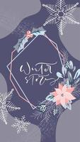kerstontwerp met kalligrafie social media-verhaal