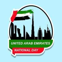 ontwerp van de stickerontwerp van de nationale dag van de verenigde arabische emiraten