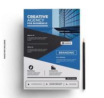 afdrukklare flyer ontwerpsjabloon in a4-formaat