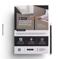 moderne brochure folder klaar om sjabloon af te drukken