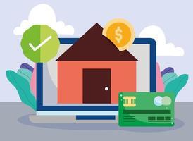 samenstelling van online betaling en e-commerce