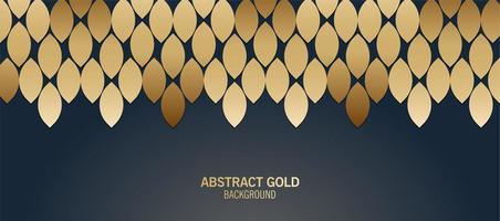 elegant blauw en goud abstract patroon vector