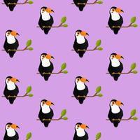 naadloze hoornrekening patroon op paars
