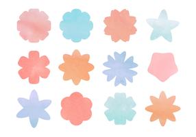 Gratis Bloemen van de waterverf Vector