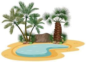 woestijnlandschap met natuurboomelementen vector