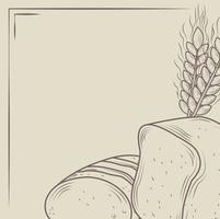 rustieke brood en bakkerijbanner