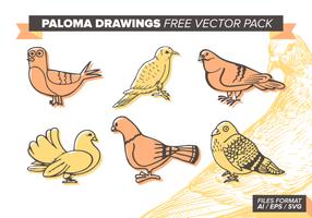 Paloma Tekeningen Gratis Vector Pack